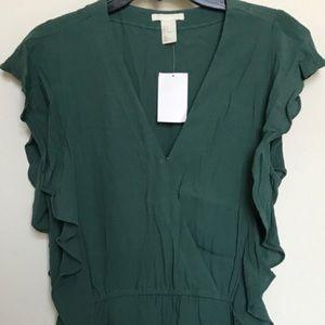 NWT H&M Emerald Romper