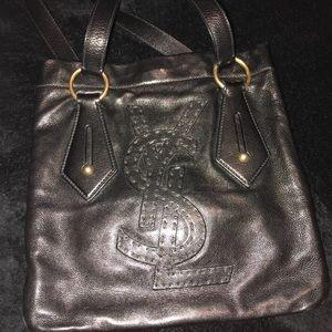 YSL small authentic black handbag