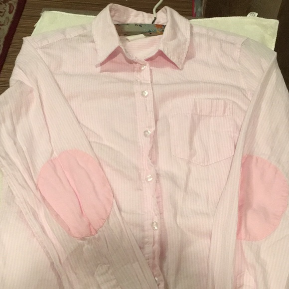 f57ce277 H&M Tops   Hm White Pink Striped Button Down Shirt Size 4   Poshmark
