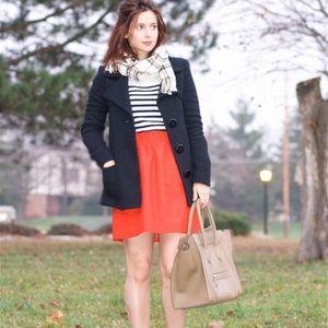 J. Crew RED City Mini Skirt