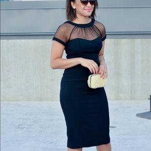 Maggy London illusion dress