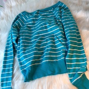 Blue & white striped Sweater 👕