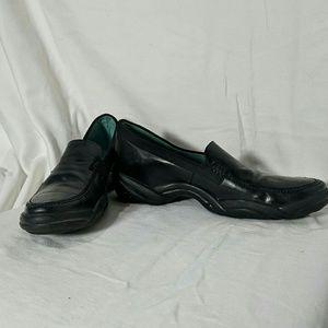 Womens BCBG Black Leather Loafer Shoe Size 7.5
