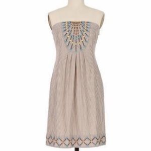 Anthropologie Maeve strapless embroidered dress