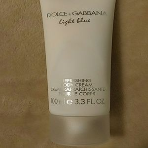 Dolce and Gabbana light blue refreshing body cream
