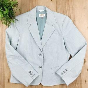 NWOT Talbots blue pinstripe blazer