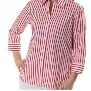 Foxcroft Button down stripes shirt