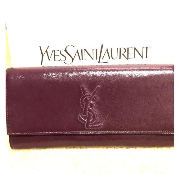 a45f194354 Authentic YSL Belle De Jour Clutch Bag Purple. M 5a27506e713fde0e6a018ba2
