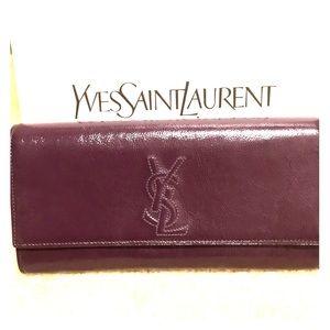 Authentic YSL Belle De Jour Clutch Bag Purple