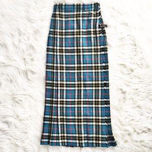 Vintage NWT Moffat Weavers plaid maxi skirt