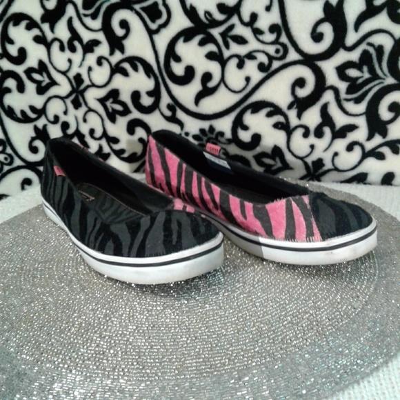bd4fc3f75 Vans Shoes   Sold Caliente Zebra Print Flats   Poshmark