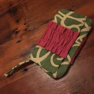 Green and Pink Lisa Lill Wristlet
