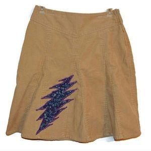 Dresses & Skirts - Grateful Dead Steely Bolt Corduroy Skirt