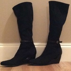 CLASSY DONALD J PLINER SUEDE & LEATHER BOOTS