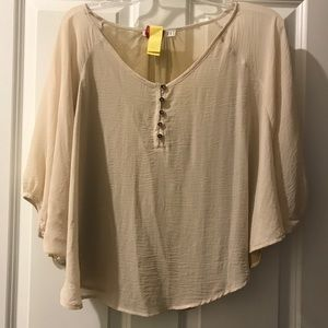 Town Blouse with Gold Shimmer Back