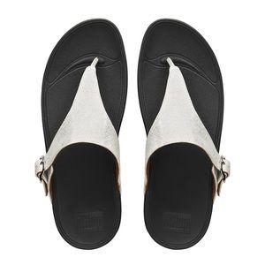 Fitflop Skinny Deluxe Thongs Sandals Metallic 8