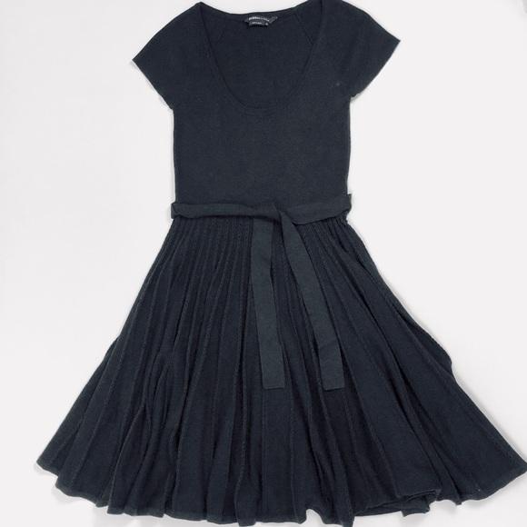 70b1ef4b1d8be 74% off BCBGMaxAzria Dresses Bcbg Black Scoop Neck Fit And Flare ...