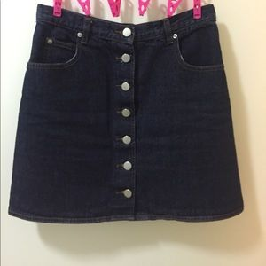 ASOS Denim A line mini skirt
