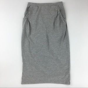 ASOS gray stretch midi skirt Sz 6