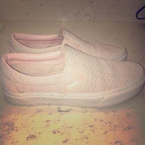 Vans Shoes - CUTE Like New Pink Women s Vans slip ons ... 89162ba44ce5