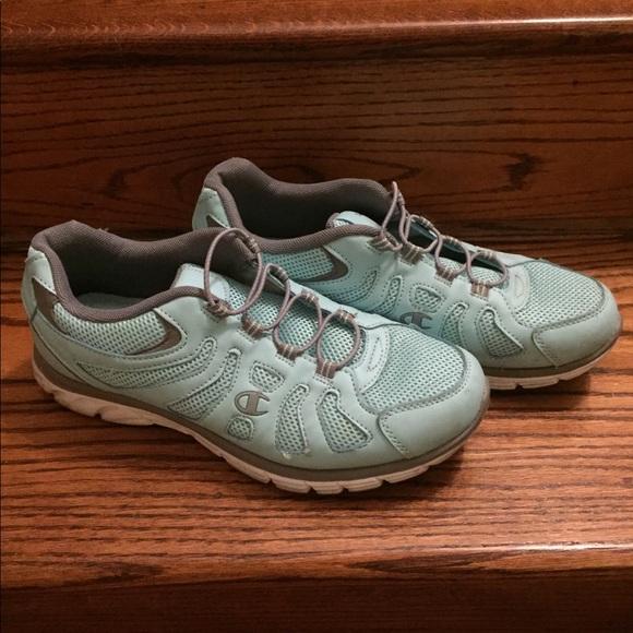 b523a16489691 Champion Shoes - Champion light blue women s tennis shoes.