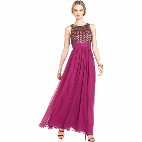 JS Collections Dresses | Beaded Empirewaist Gown | Poshmark