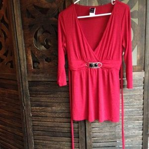 Tops - ❤ Casual Red Tunic Top