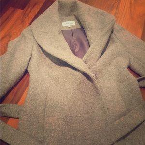 Calvin Klein heather gray wool coat. Beautiful!