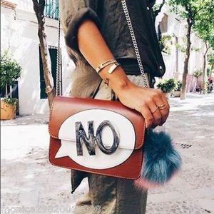 "ZARA ""NO"" Crossbody Text Bag"
