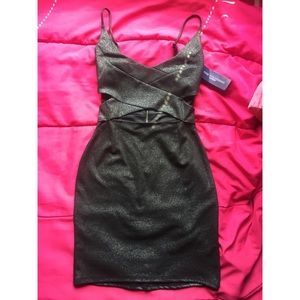 Black/Dark grey glittery dress