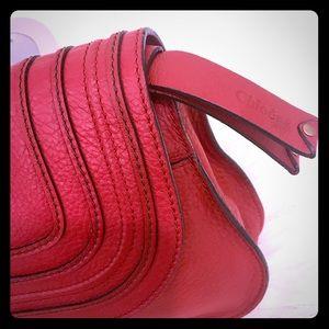 Auth Chloe Marcie Medium Satchel w/leather strap