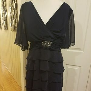 Jessica Howard Navy Blue Layered Dress