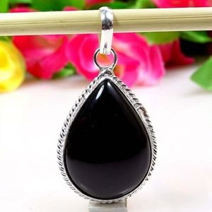 Jewelry - Simulated Black Onyx Silver Overlay Pendant