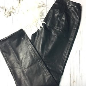 Dana Buchman leather pants