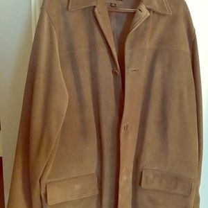Banana Republic suede car coat