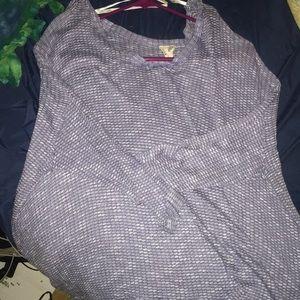 Size L Blu Pepper Tunic HiLow Sweater