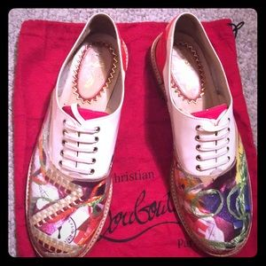 """Gently used """"Trash"""" limited Louboutin oxford"""
