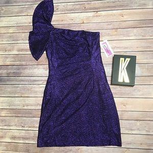 ADRIANNA PAPELL Hailey Logan Purple Dress Size M