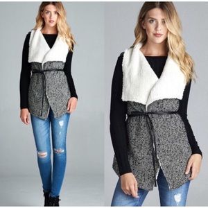Jackets & Blazers - Faux Fur Wool Blend Tweed Vest 5⭐️Buyer Rated⭐️