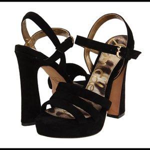 """HPx3• SAM ENDELMAN •""""TARYN"""" velvety Platform heels"""