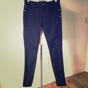 Ben Sherman Black Skinny Jeans Zipper 26/32