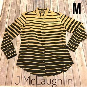 J McLaughlin silk striped Blouse