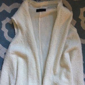 Zara white Sherpa vest