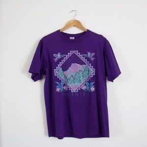 Vintage 90's Purple Yosemite Shirt Size L
