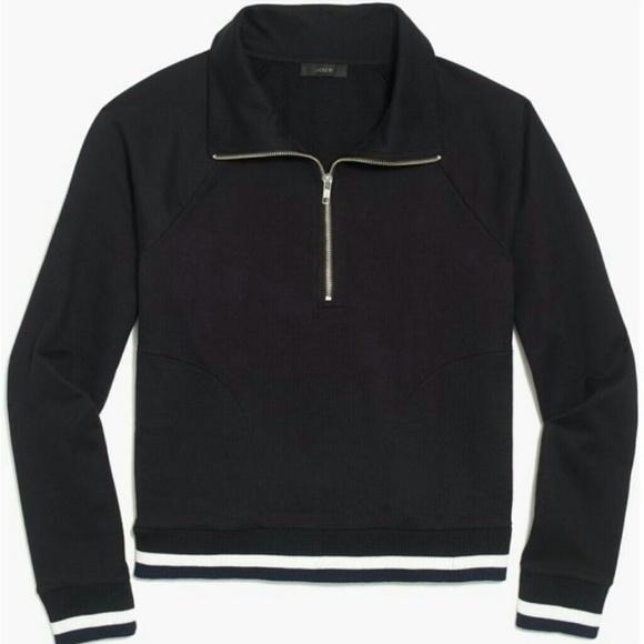 43% off J. Crew Sweaters - NWT J.Crew Sport Stripe Black Pullover ...