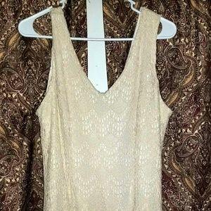 Bar III Crochet Blush Dress
