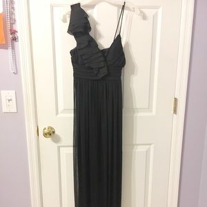 David's Bridal Black Formal Dress
