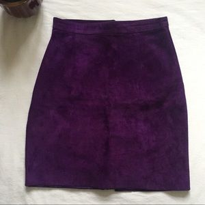 Vintage Purple Leather/Suede Pencil Skirt