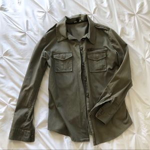 Elizabeth and James Army Green Jacket Shirt