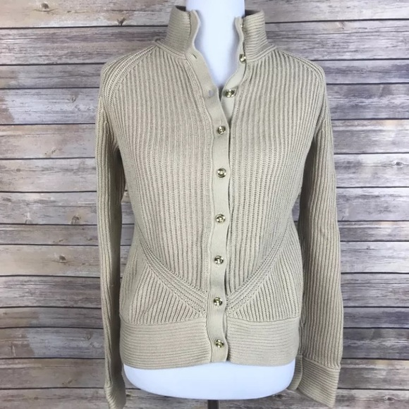 Banana Republic - Banana Republic Womens Medium Tan Cardigan ...